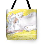 Pig Sow And Piglets Tote Bag