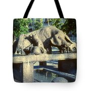 Pig Well Tote Bag