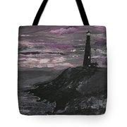 Pigeon Lighthouse Impasto Sunset Monochromatic Tote Bag