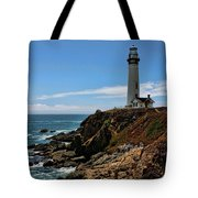 Pigeon Point Lighthouse Vertical Tote Bag