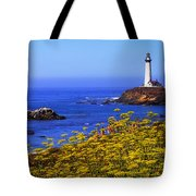 Pigeon Point Lighthouse Panoramic Tote Bag