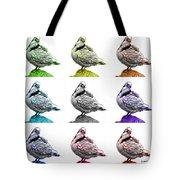 Pigeon Pop Art 5516 - Fs - Wb - M-  Modern Animal Artist James A Tote Bag