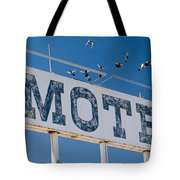 Pigeon Roost Motel Sign Tote Bag