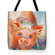 Piggy In Pearls Tote Bag