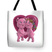 Pigs In Love Tote Bag