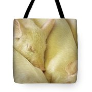 Pigs Sleeping Tote Bag
