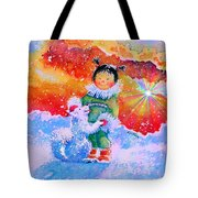 Pigtails And Wagging Tail Tote Bag