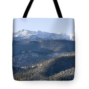 Pike National Forest In Snow Tote Bag