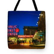 Pike Place Market Tote Bag by Inge Johnsson