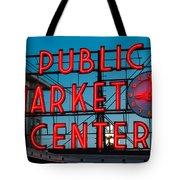 Pike Place Public Market Seattle Tote Bag