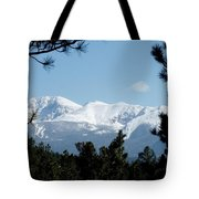 Pikes Peak After A Snowstorm Tote Bag