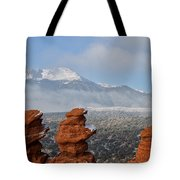 Pikes Peak In The Clouds Tote Bag