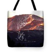 Pikes Peak Sunrise Close-up Tote Bag