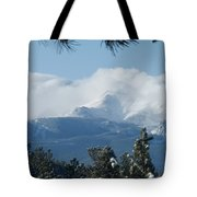 Pikes Peak Under The Clouds Tote Bag