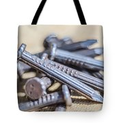 Pile Of Nails Macro Tote Bag