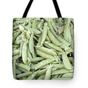 Pile Of Sugar Peas Background Tote Bag