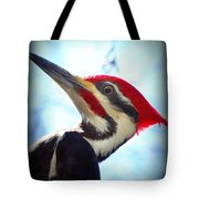 Pileated Close Up Tote Bag