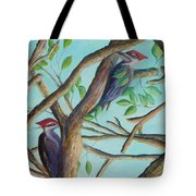 Pileated Woodpeckers Tote Bag