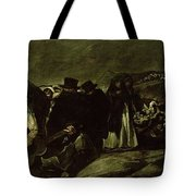 Pilgrimage To San Isidros Fountain, C.18213 Oil On Canvas Tote Bag