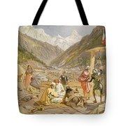 Pilgrims At Gangootree, From India Tote Bag