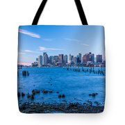 Pilings On Boston Harbor Tote Bag