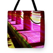 Pillars And Chains - Color Rays Tote Bag