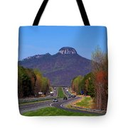 Pilot Mountain From Overlook Tote Bag
