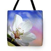Pin Cherry Swirl Tote Bag