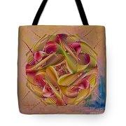Pin Stripe City Tote Bag by Deborah Benoit