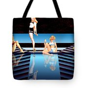 Pin Up Girls By 4 Tote Bag