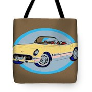 Pin Up Vette Tote Bag