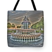 Color Filled Pineapple Tote Bag