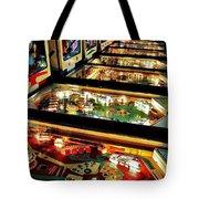 Pinball Arcade Tote Bag by Benjamin Yeager
