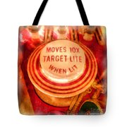 Pinball Machine Watercolor Tote Bag