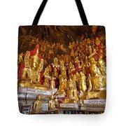 Pindaya Cave With More Than 8000 Buddha Statues Myanmar Tote Bag