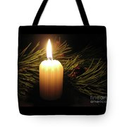 Pine Bough And Candle Tote Bag