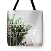 Pine Branches Birdcage Tote Bag