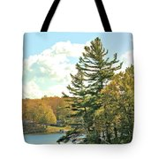 Pine By The Water Tote Bag