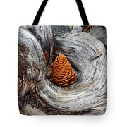 Pine Cone In A Knot  Tote Bag
