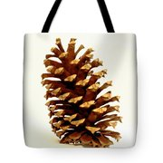 Pine Cone On White Tote Bag