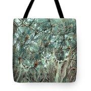 Pine Cones And Lace Lichen Tote Bag