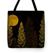 Pine Forest Moon Tote Bag