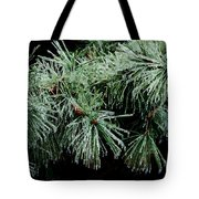 Pine Needles In Ice Tote Bag by Betty LaRue