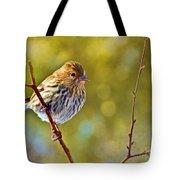 Pine Siskin - Digital Paint Tote Bag