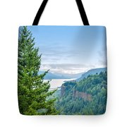 Pine Tree And Columbia River Gorge Tote Bag