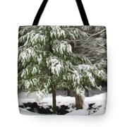 Pine Tree Covered With Snow 2 Tote Bag