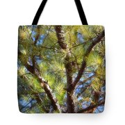 Pine Tree Glow 2014 Tote Bag