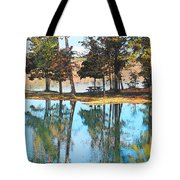 Pine Tree Water Reflections Tote Bag