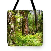 Pine Trees And Ferns Tote Bag
