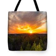 Pine Trees At Sunset Tote Bag